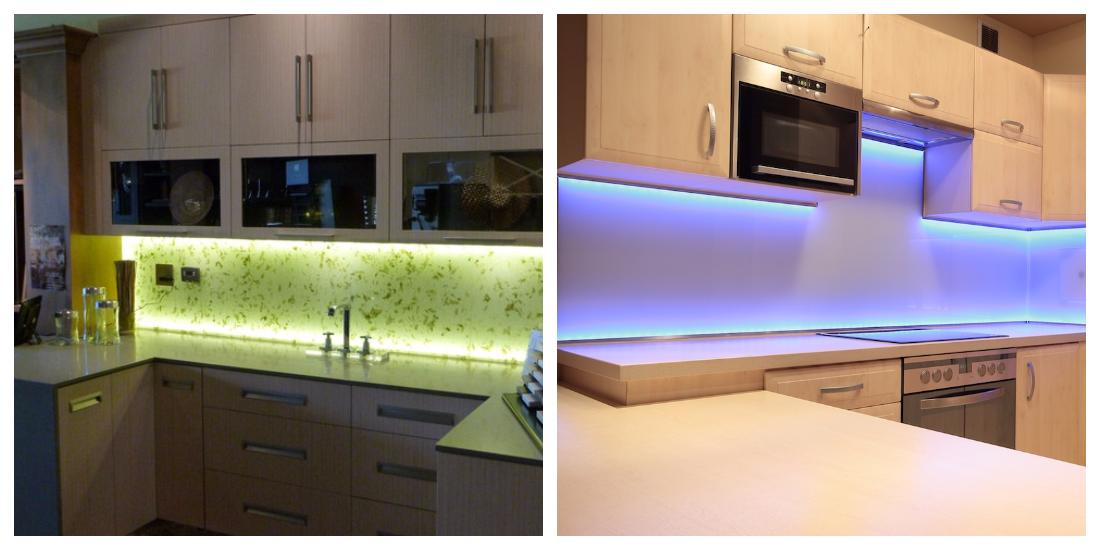 Светодиоидные ленты на кухне
