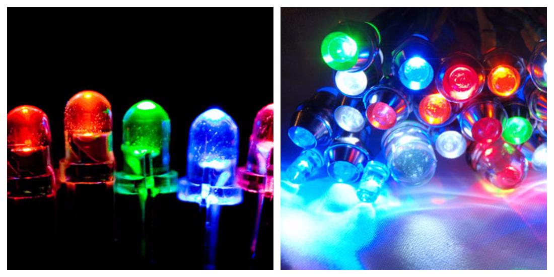 Светодиоиды по интенсивности света